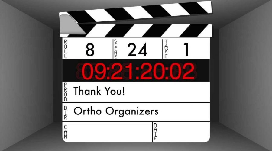 Thank you from Ortho Organizers